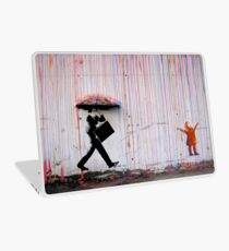 Banksy Regenschirm Rainbow Happy Girl Laptop Folie