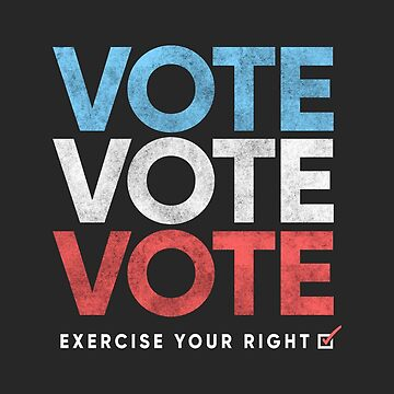 Retro Distressed Vote T-Shirt, Exercise Your Right by BootsBoots
