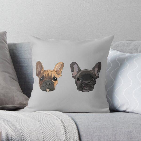 frenchies Throw Pillow