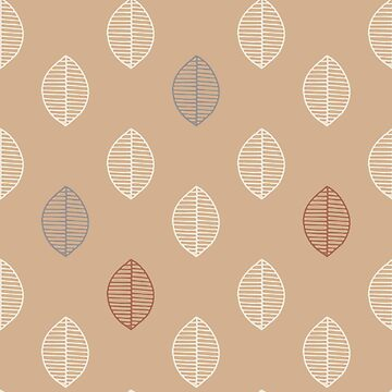 Simple Leaf design Ligonier Tan Background by broadmeadow
