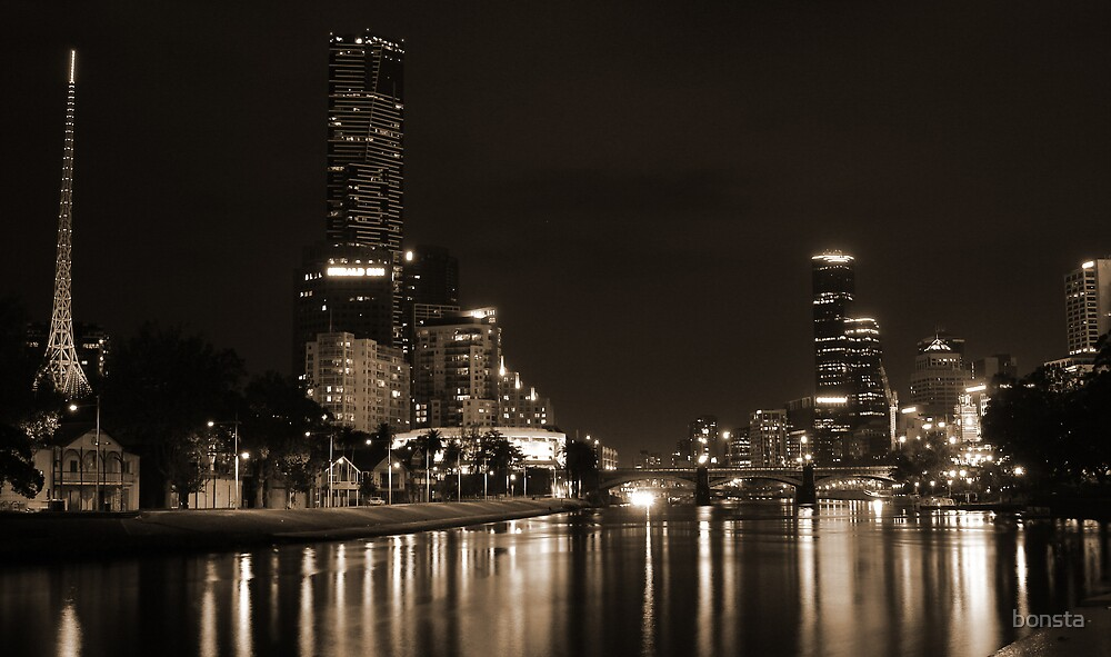 Melbourne by night by bonsta