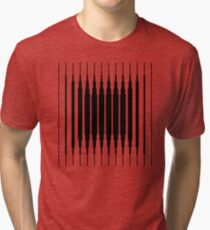 Square Lines (BLACK) Camiseta de tejido mixto