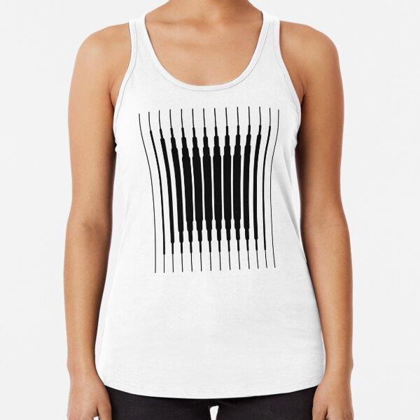 Square Lines (BLACK) Camiseta con espalda nadadora
