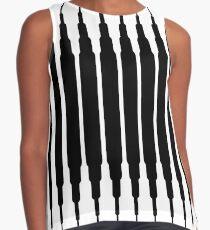 Square Lines (BLACK) Blusa sin mangas