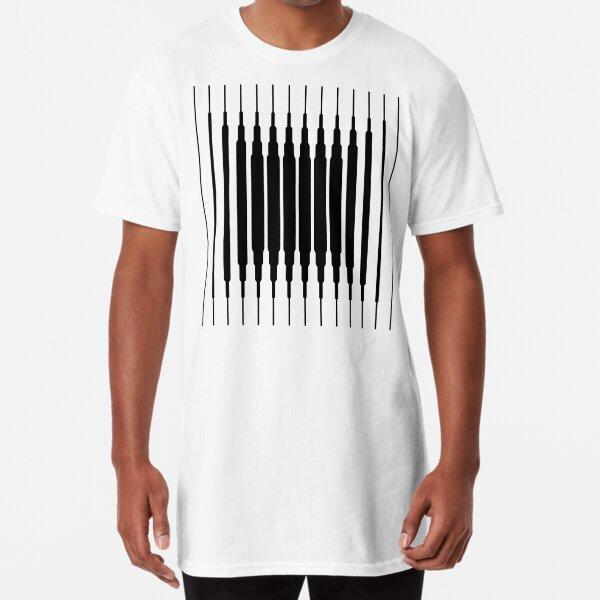 Square Lines (BLACK) Camiseta larga