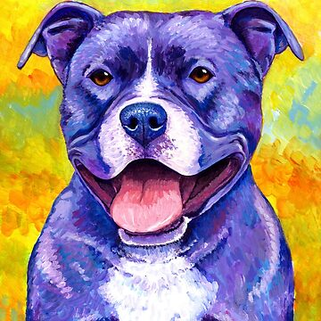 Colorful American Pitbull Terrier Dog by lioncrusher