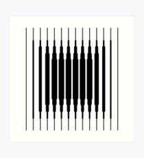 Square Lines (BLACK) Lámina artística