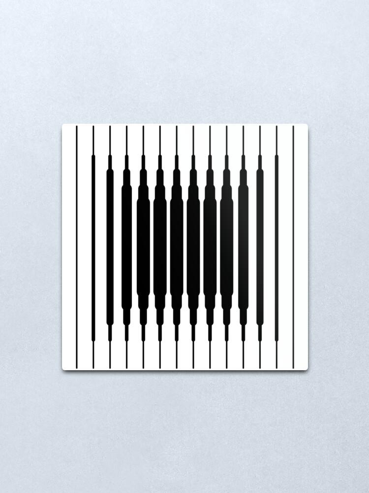 Vista alternativa de Lámina metálica Square Lines (BLACK)