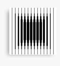 Square Lines (BLACK) Lienzo