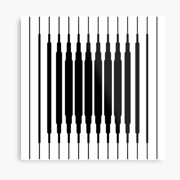 Square Lines (BLACK) Lámina metálica