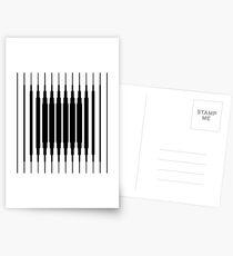 Square Lines (BLACK) Postales