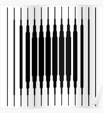 Square Lines (BLACK) Póster