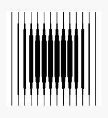 Square Lines (BLACK) Lámina fotográfica
