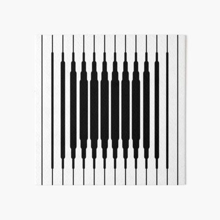 Square Lines (BLACK) Lámina rígida
