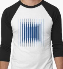 SQUARE LINE (BLUE) Camiseta ¾ estilo béisbol