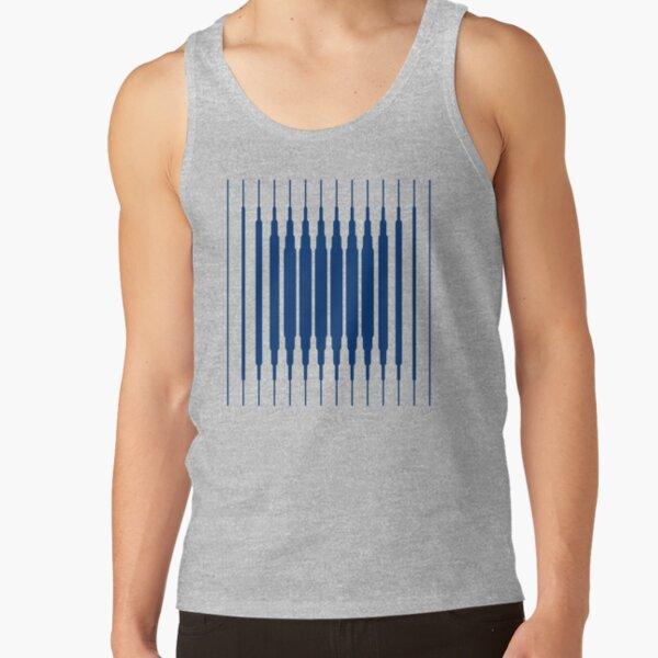 SQUARE LINE (BLUE) Camiseta de tirantes