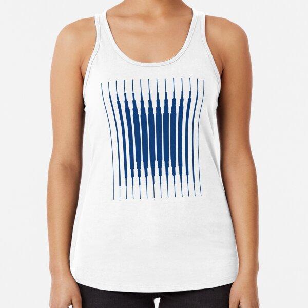 SQUARE LINE (BLUE) Camiseta con espalda nadadora