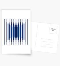 SQUARE LINE (BLUE) Postales