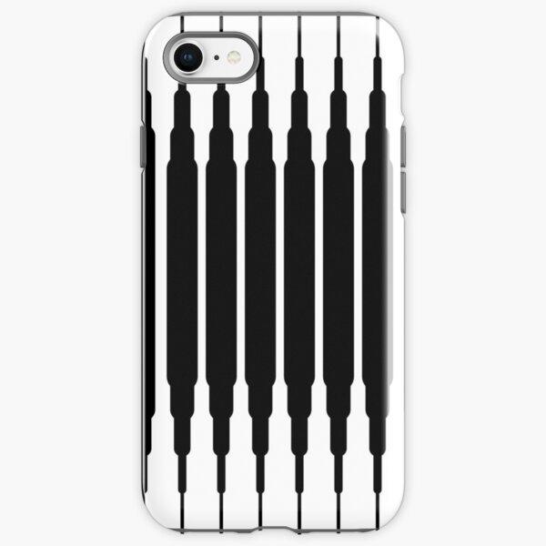 Square Lines (BLACK) Funda resistente para iPhone