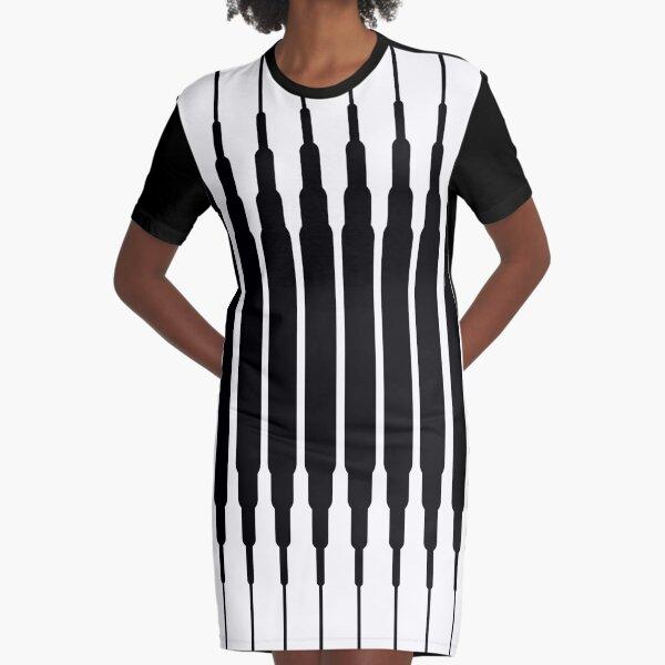 Square Lines (BLACK) Vestido camiseta