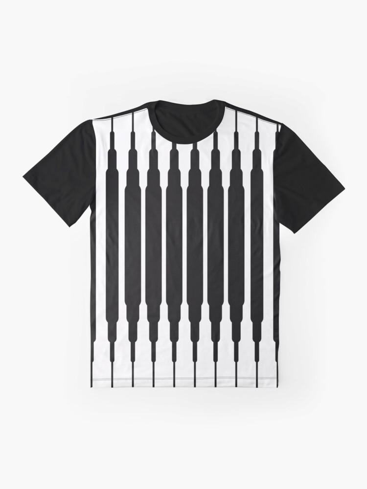 Vista alternativa de Camiseta gráfica Square Lines (BLACK)