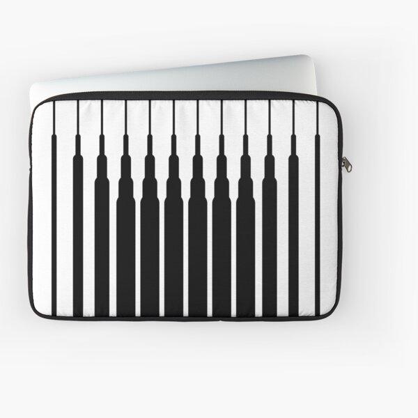 Square Lines (BLACK) Funda para portátil