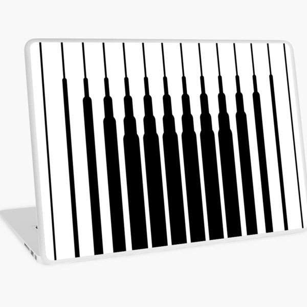 Square Lines (BLACK) Vinilo para portátil