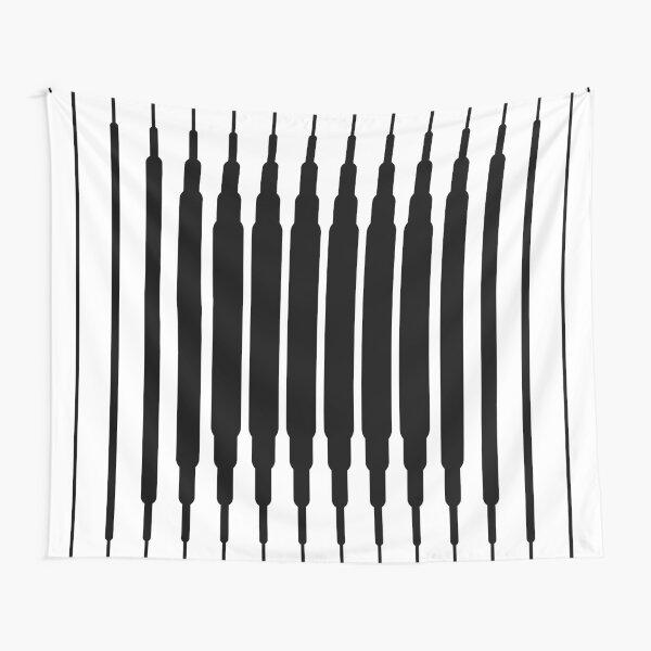 Square Lines (BLACK) Tela decorativa