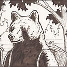 Bear and basket by ChristmasPress