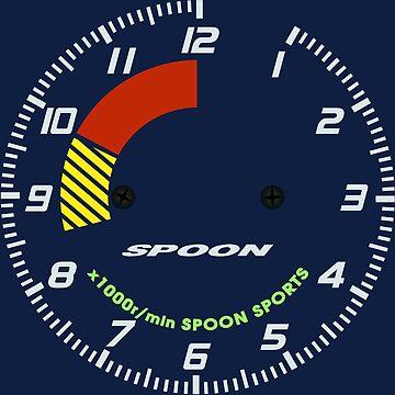 Spoon Tachometer Clock by AutomotiveArt