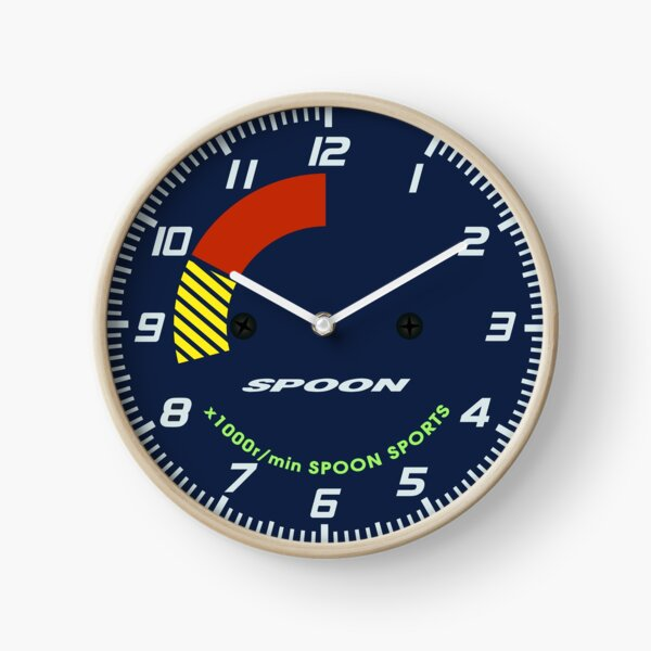 Spoon Tachometer Clock Clock