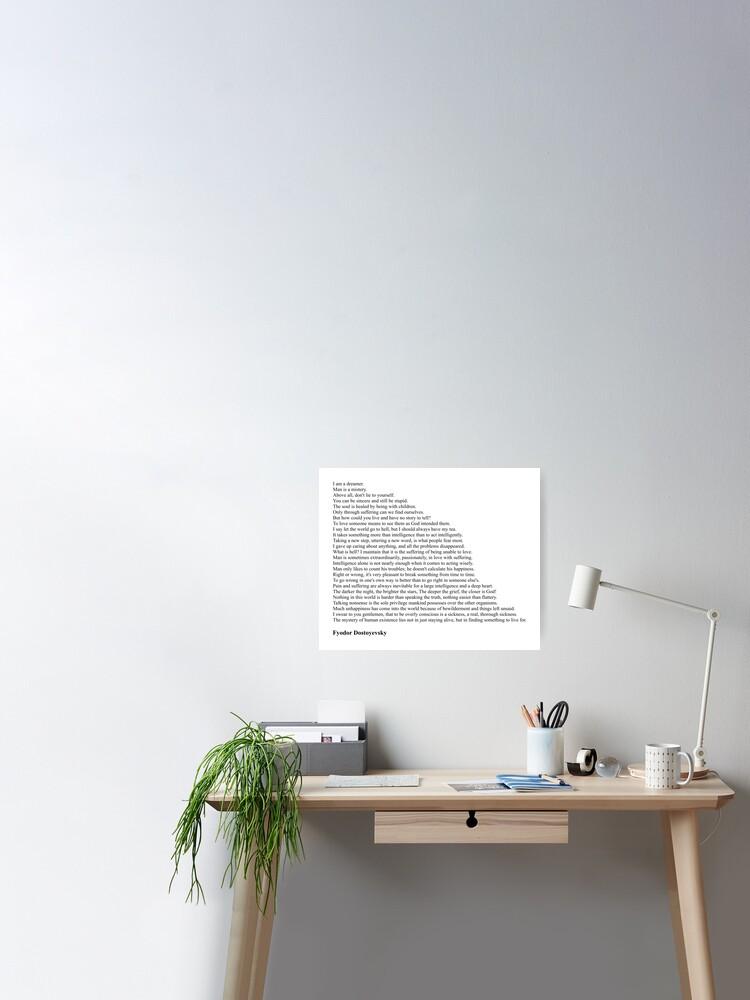 Fyodor Dostoyevsky The Brothers Karamazov Quote Poster Photo Print Gift