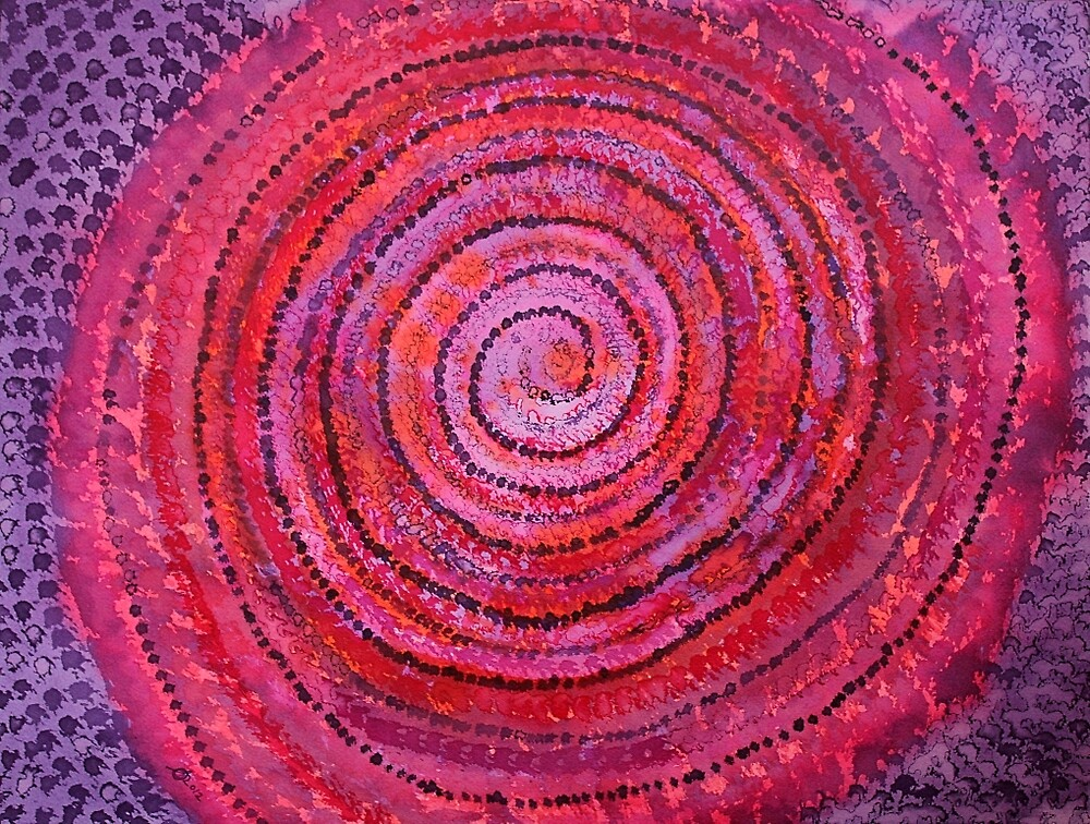 Sits in the Middle & Knows original painting by Sol Luckman