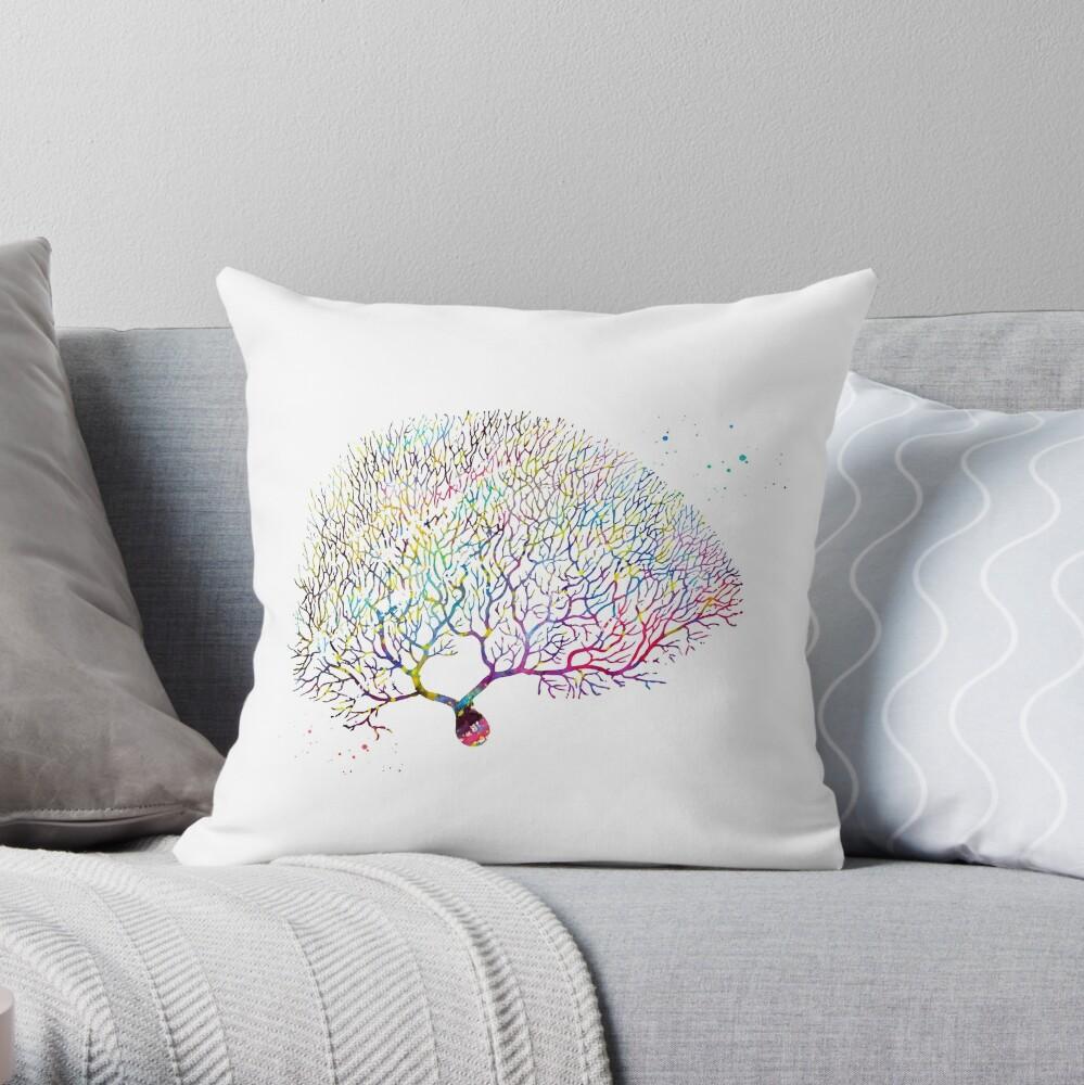 Purkinje Neuron Throw Pillow