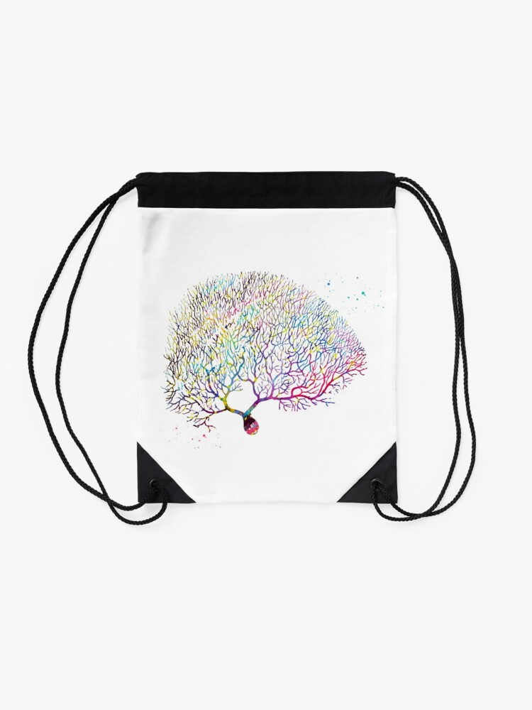 Alternate view of Purkinje Neuron Drawstring Bag