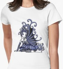 Blue Gothic Fairy  Women's Fitted T-Shirt