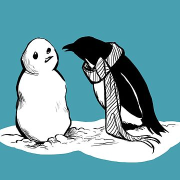Penguin's Snow Buddy by carissalapreal