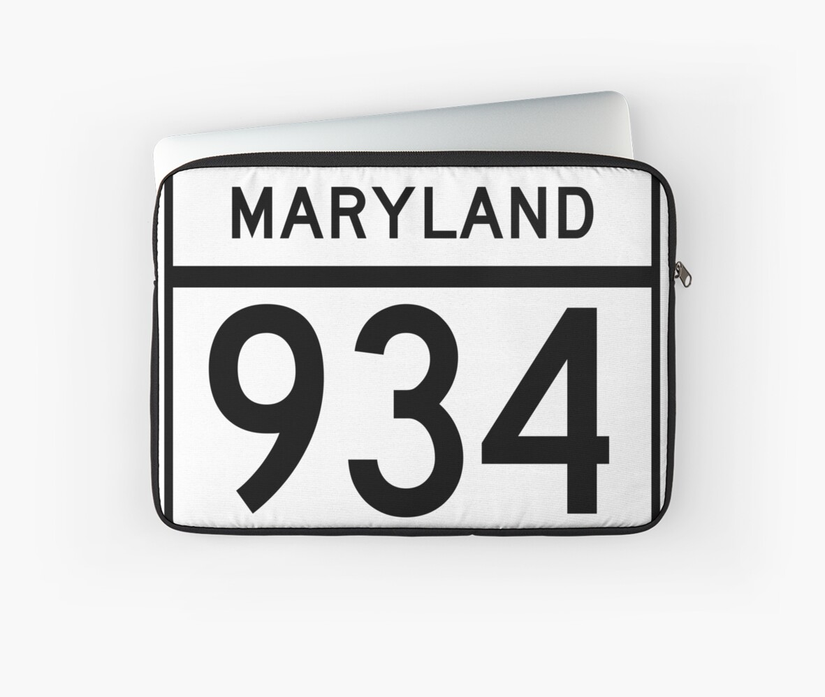 Maryland Route MD 934 | United States Highway Shield Sign Sticker by Scott Hamilton
