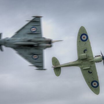 Eurofighter and Spitfire Pass by Nigdaw