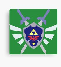The hero of time, Link's shield Canvas Print