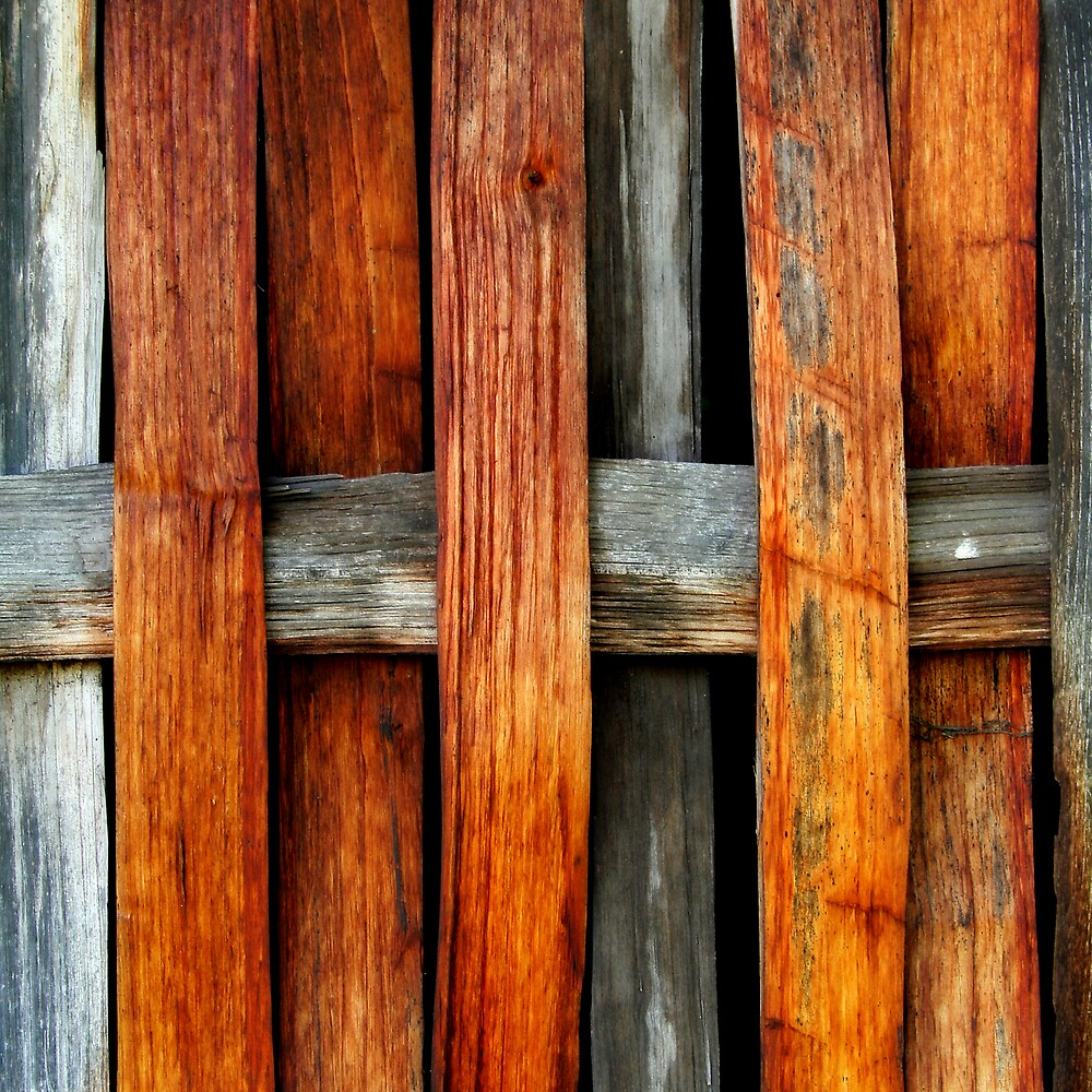 Wooden Wattle Wall by Anthony Thomas