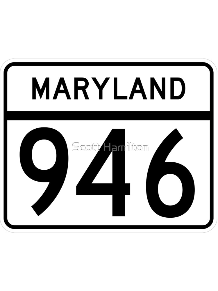 Maryland Route MD 946 | United States Highway Shield Sign Sticker by djakri