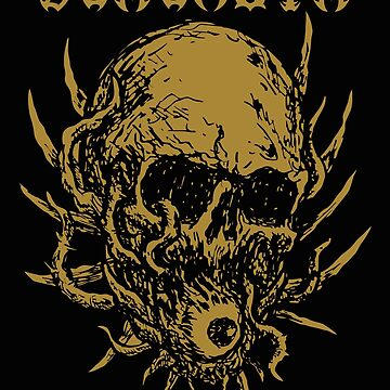 Behemoth Brutal Death Metal Skull Rock T Shirt, Satanic Shirt, Satan Occult, Death Metal, Metal Head, Rock Band, Hard Rock, Heavy Metal by kraftd