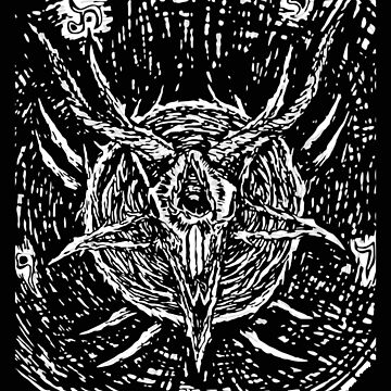 Pentagram Goat Art , Satanic Shirt, Satan Occult, Death Metal, Metal Head, Rock Band, Hard Rock, Heavy Metal by kraftd