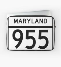 Maryland Route MD 955 | United States Highway Shield Sign Sticker Laptop Sleeve