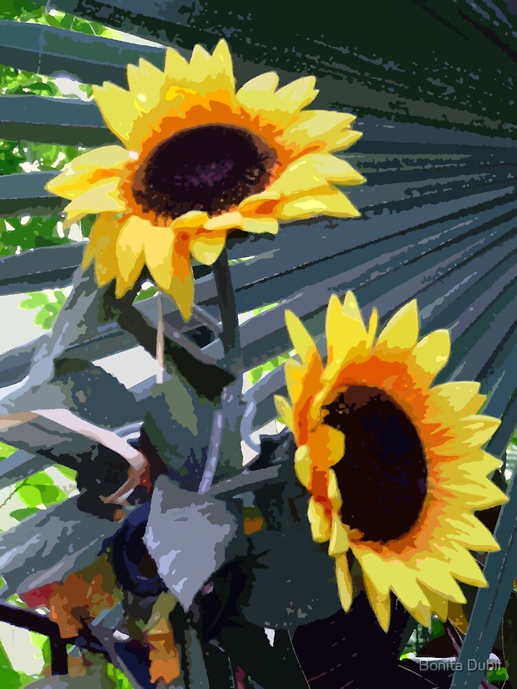 Sunflowers with a twist by Bonita Dubil