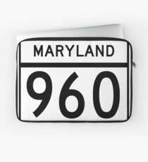 Maryland Route MD 960 | United States Highway Shield Sign Sticker Laptop Sleeve
