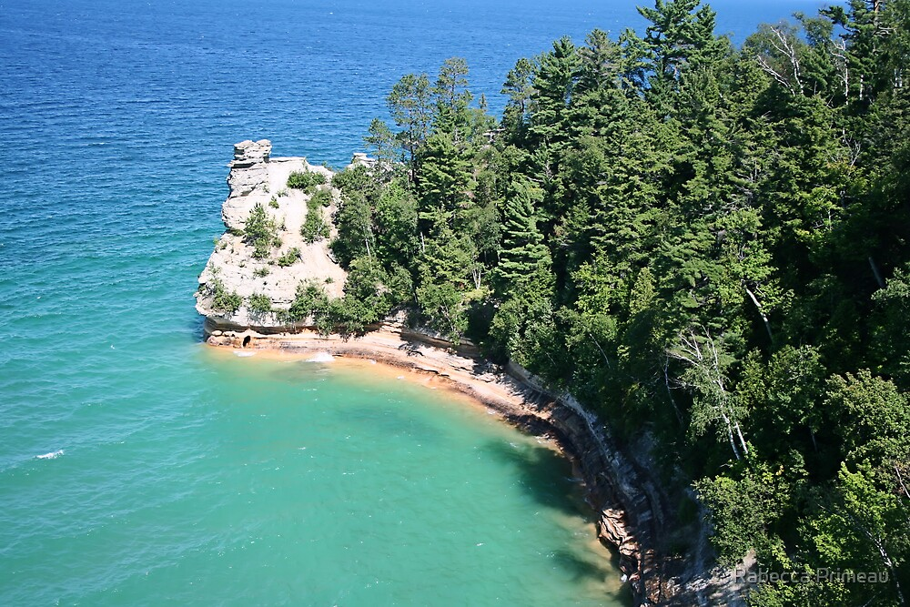 """Pictured Rocks """"Miners Castle"""" by Rabecca Primeau"""