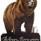 Large brown bear ...vintage beer ad by edsimoneit