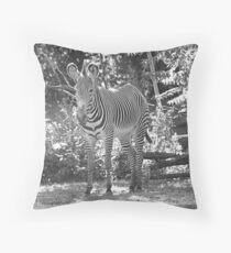 """Think Zebra """"EDS Awareness"""" Throw Pillow"""
